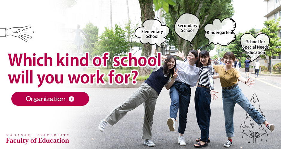Which kind of school will you work for? Organization NAGASAKI UNIVERSITY Faculty of Education